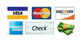 PhillyJunk.com will take VISA, MasterCard, Discover, Amercian Express, checks or cash