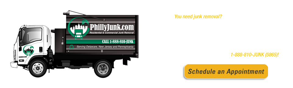 You need junk removal? We're your best choice in the rubbish pick-up business.  We're PhillyJunk.com, and we're here to clean out houses, remove furniture and haul away the stuff you want to get rid of. Schedule a trash removal appointment right now by booking online or calling 1-888-810-JUNK!