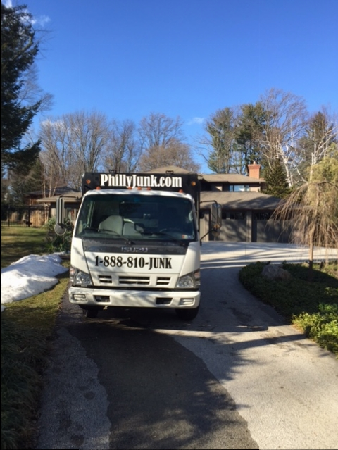 Philly Junk® removal teams begin house cleanout in Perkasie, Pa.